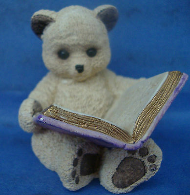 Vintage United Design Stone Critters Teddy Reading Canada Issue SCB-135