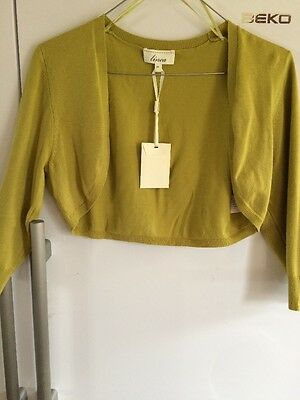Olive  Green Knitted Shrug New