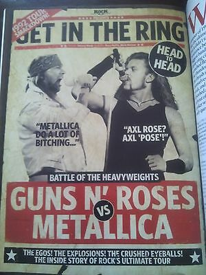 Metallica Guns n Roses 1992 Tour 6 Page Article from 2012 Mag Classic Hard Rock