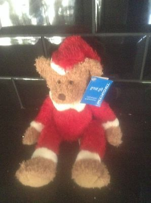 Paul Mitchell 'santa Bear' Teddy 80/90's Vintage Collectable With Tag Xmas Gift