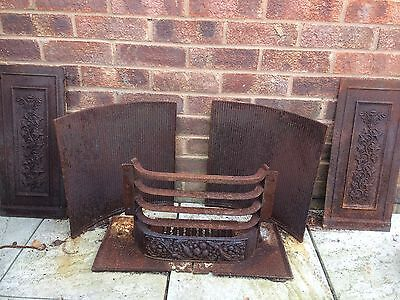 Victorian Iron Fireplace Inserts And Wood/coal Grate