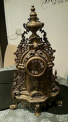 Huge brass mantle clock (vintage/antique)