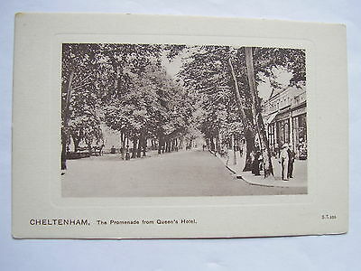 Old Postcard Of The Promenade From The Queens Hotel, Cheltenham