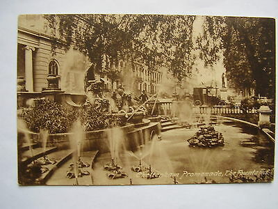 Old Postcard Of The  Fountains, Promenade Cheltenham