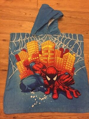 "Spider-Man Boys Hooded Towel 3-7 Years, 23"" Long"