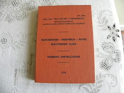 Br Booklet Manchester-Sheffield-Wath Electric Line Instructions