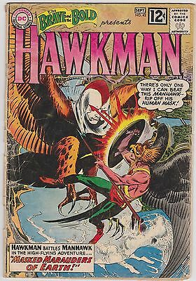 BRAVE and the BOLD no.43. HAWKMAN by Joe Kubert. September 1962. DC. Good range!