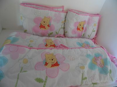 Winnie The Pooh And Piglet 4 Pc. Bumper Baby Bed, Crib Pads