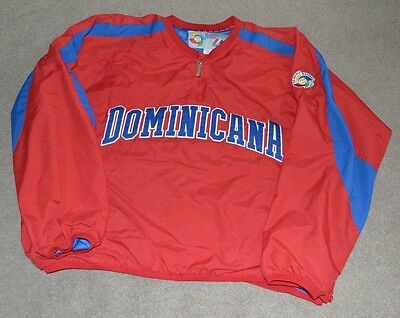 Dominican Republic 2006 World Baseball Classic Pullover Jacket WBC Large Jersey