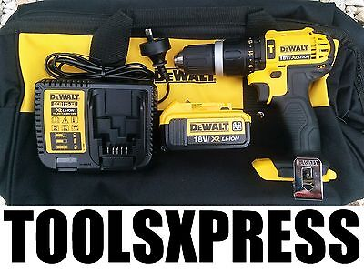 NEW Dewalt 18v Cordless Compact Hammer Drill DCD785-XE KIT - OZ MODEL