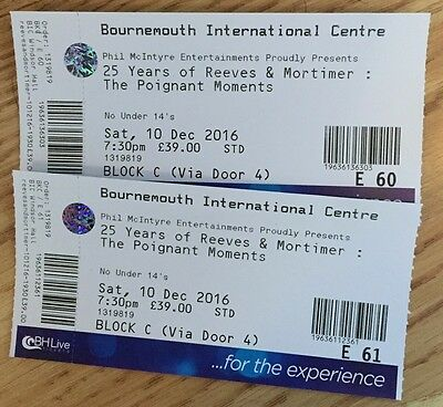 25 Years of Reeves & Mortimer at Bournemouth International Centre - 10 Dec 2016