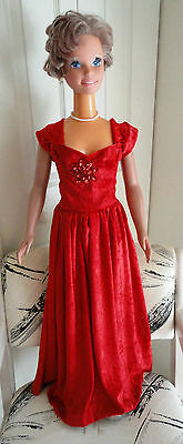 My size Barbie   red Velvetteen gown perfect for the session