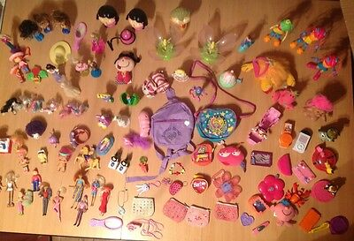 girl toys bundle including Barbie Polly Pocket Tinkerbell Disney characters etc