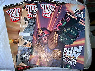 2000Ad Back Progs 1400-1498  Any 2 For £1.00  - All In Ex Condition Judge Dredd