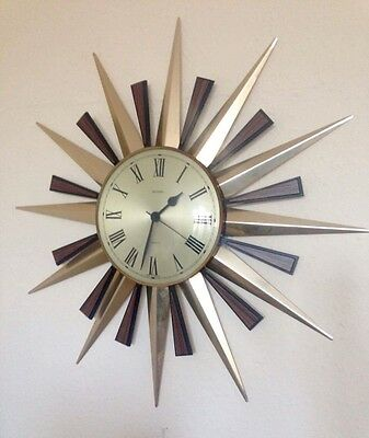 Metamec Sunburst Clock