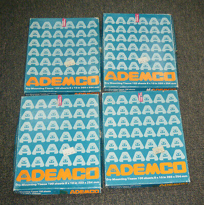 Vintage Ademco Dry Mounting Tissue Sheets - Photography / 4 Boxes