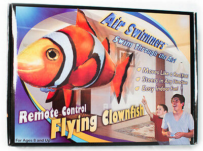 Air Swimmers Remote Control Flying Clown Fish Helium Balloon Rc Toy For Kids