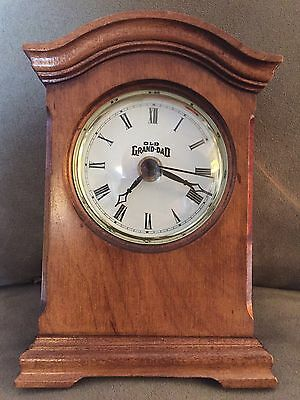 Vintage Whiskey Old Grand Dad Wooden Wisconsin Co Clock/Mantle/Desk/Second Hand!