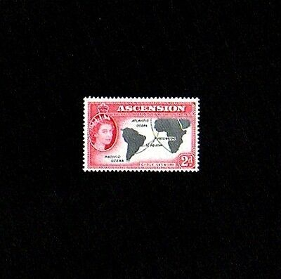 Ascension - 1956 - Qe Ii - Map - Cable Lines - # 65 - Mint - Mnh - Single!