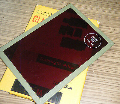 Boxed Kodak No. 1A Safelight Filter 5x7 Inch  - Vintage Photography  (mb)