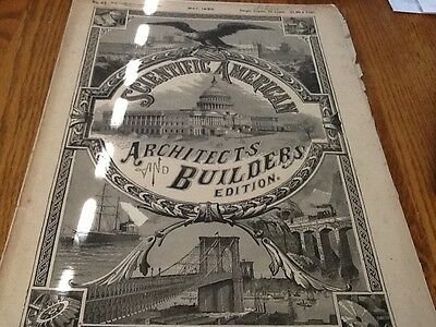 1889 scientific american architects and builders edition w/color supplement