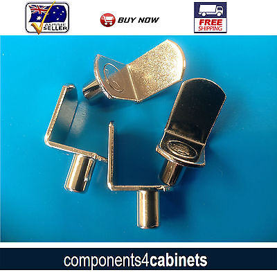 "4 x Steel Shelf Support Pins (1/4"") 6.35mm  Stud"