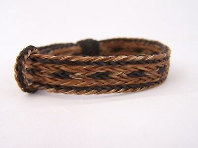 Western 5 Strand Braided Hitched Knot Horse Hair Bracelet