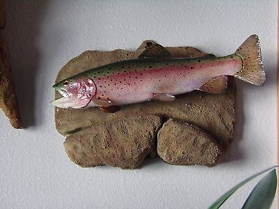 12 inch Rainbow Trout Reproduction, Nicely Airbrushed reproduction mounted