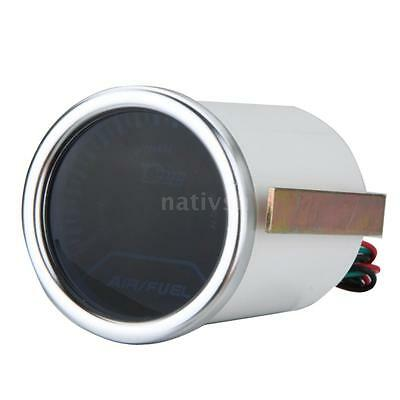 2inch 52mm Car Smoke Lens Pointer Air/Fuel Ratio Gauge Meter LED White ABS P5Y8