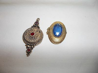 Pair Of Vintage Perfume Solid Compacts