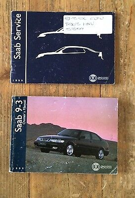 Saab 9-3 Owners Handbook Manual With Service Book