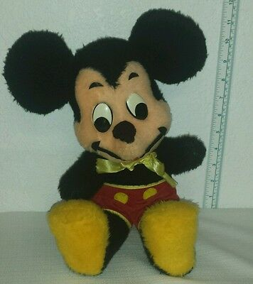 "Vintage Plush 19"" Mickey Mouse Walt Disney Characters Stuffed Animal Doll"