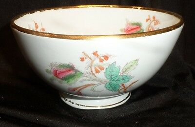 6 Moss Rose Ironstone Footed Soup/Mush Bowls P Regout Co. Maastricht  AP 1836