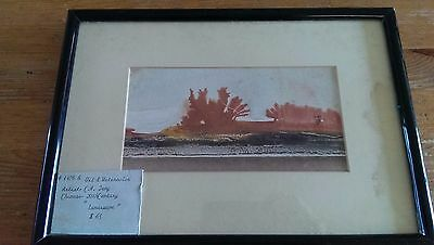 Original framed Chinese Oil and Watercolor landscape painting - C.H. Jeng