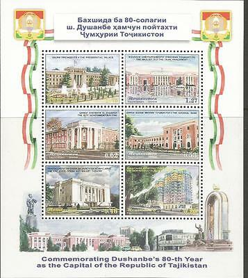 TAJIKISTAN 2004 -  The 80th Anniversary of Duschanbe** Tajikistan Capital.  MNH