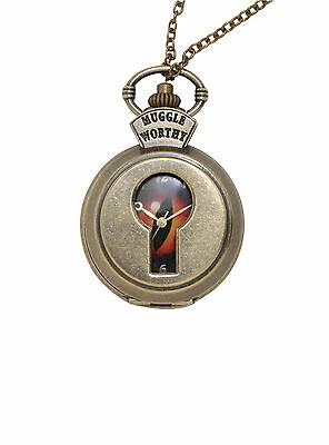 Fantastic Beasts And Where To Find Them Muggle Worthy Pocket Watch Necklace NEW