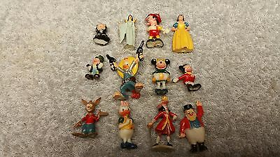 Lot of 12 Different Vintage 1960's Disneykin Hand Painted Figures