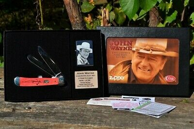 John Wayne Limited Edition Zippo Lighter CASE XX Smooth Bone Trapper Knife