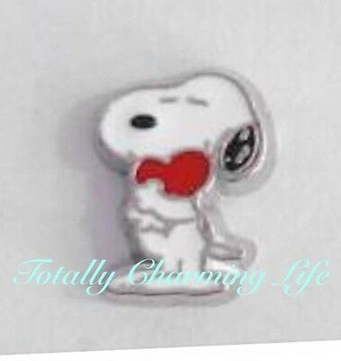 Snoopy With Heart Peanuts Character Floating Charm for Living Memory Owl Locket