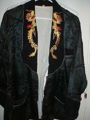Oriental Embroidered Men's Jacket w/Dragons on the lapels