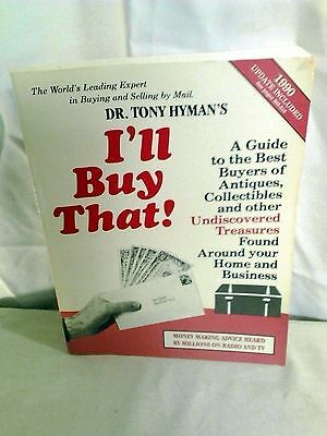 Vintage I'll Buy That Dr. Tony Hyman's Soft Cover Book 1989