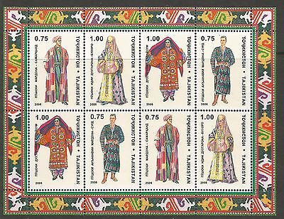 TAJIKISTAN 2006 - Traditional Costume Dress Minisheet**  .  MNH