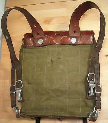 WW2 German Tornister Backpack M34 1936 complete with straps & hooks Wehrmacht