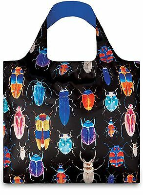 LOQI Reusable Tote Bag Insects Print Multi-Colored Print International Carry-on