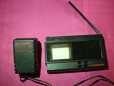 Retro 80s Sinclair pocket TV with power supply working but display a bit off