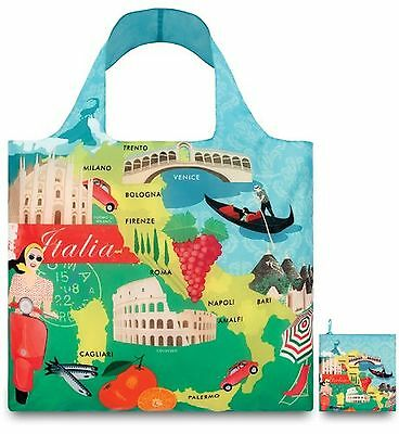 LOQI Reusable Tote Bag Italy Print United States Carry-On