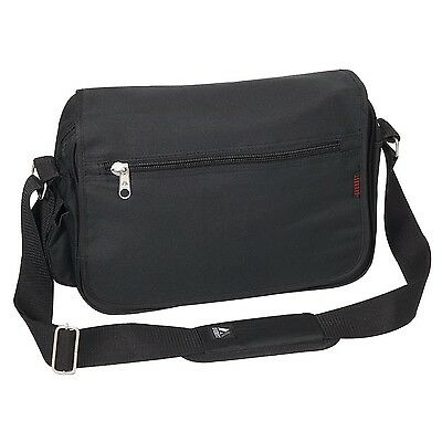 Everest Luggage Casual Messenger Briefcase Black One Size