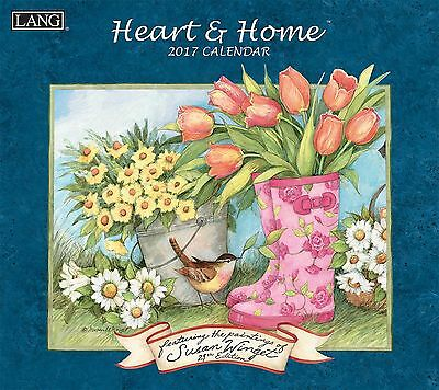 Lang 2017 Heart and Home Wall Calendar 13.375x24-Inch