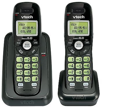 Vtech Dect 6.0 2-Handset Cordless Phone System with Caller ID Backlit Keypad ...