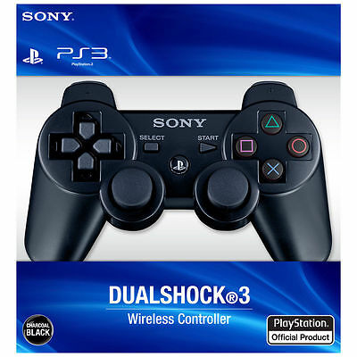 Brand New Wireless DualShock3 Controller for SONY PS3 -Official Black White Blue